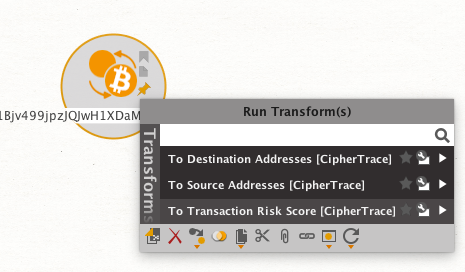 CipherTrace Maltego Transform - CipherTrace
